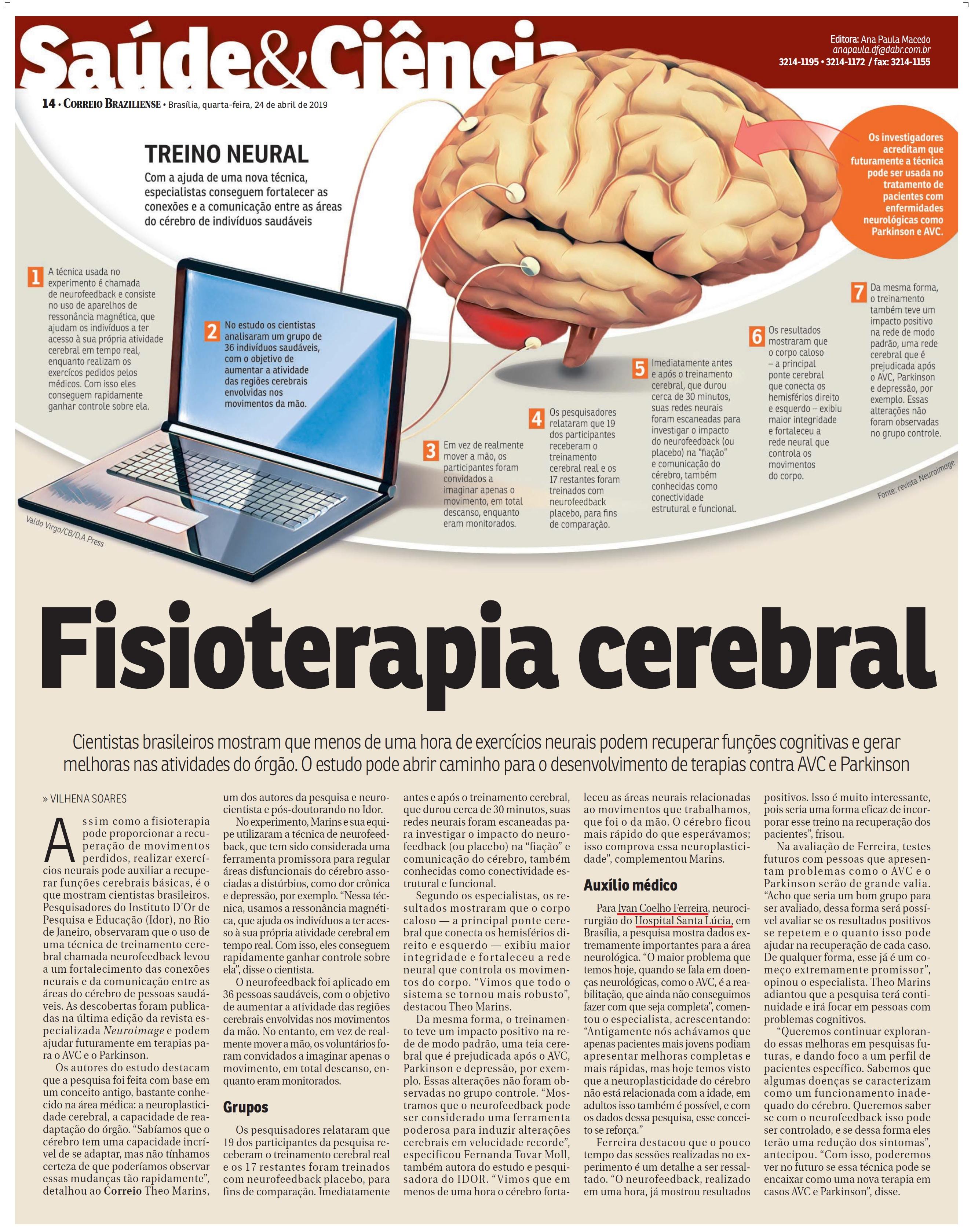 Correio Braziliense - Dr. Ivan Coelho HSLS - 24-04-2019
