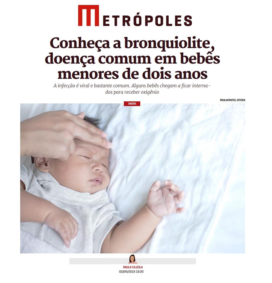 Metrópoles - Dra. Nathália Sarkis HSLS - 09-04-2019