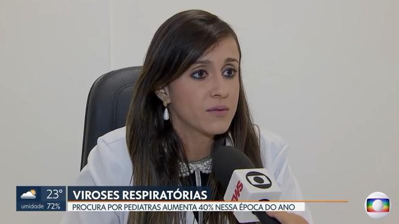 TV Globo - Dra. Larissa Camargo HSLS - 10-04-2019