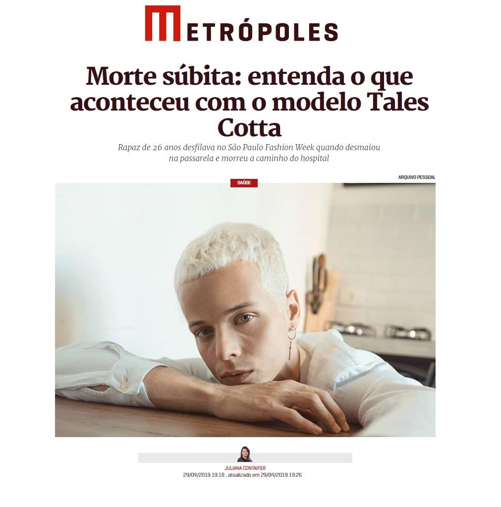 Metrópoles - Dr. Fausto Stauffer HSLN - 03-05-2019