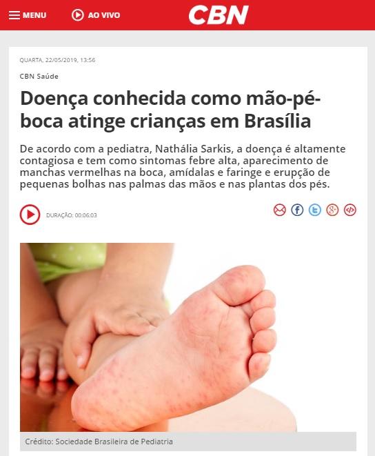 Rádio CBN Brasília - Dra. Nathália Sarkis HSLS - 22-05-2019