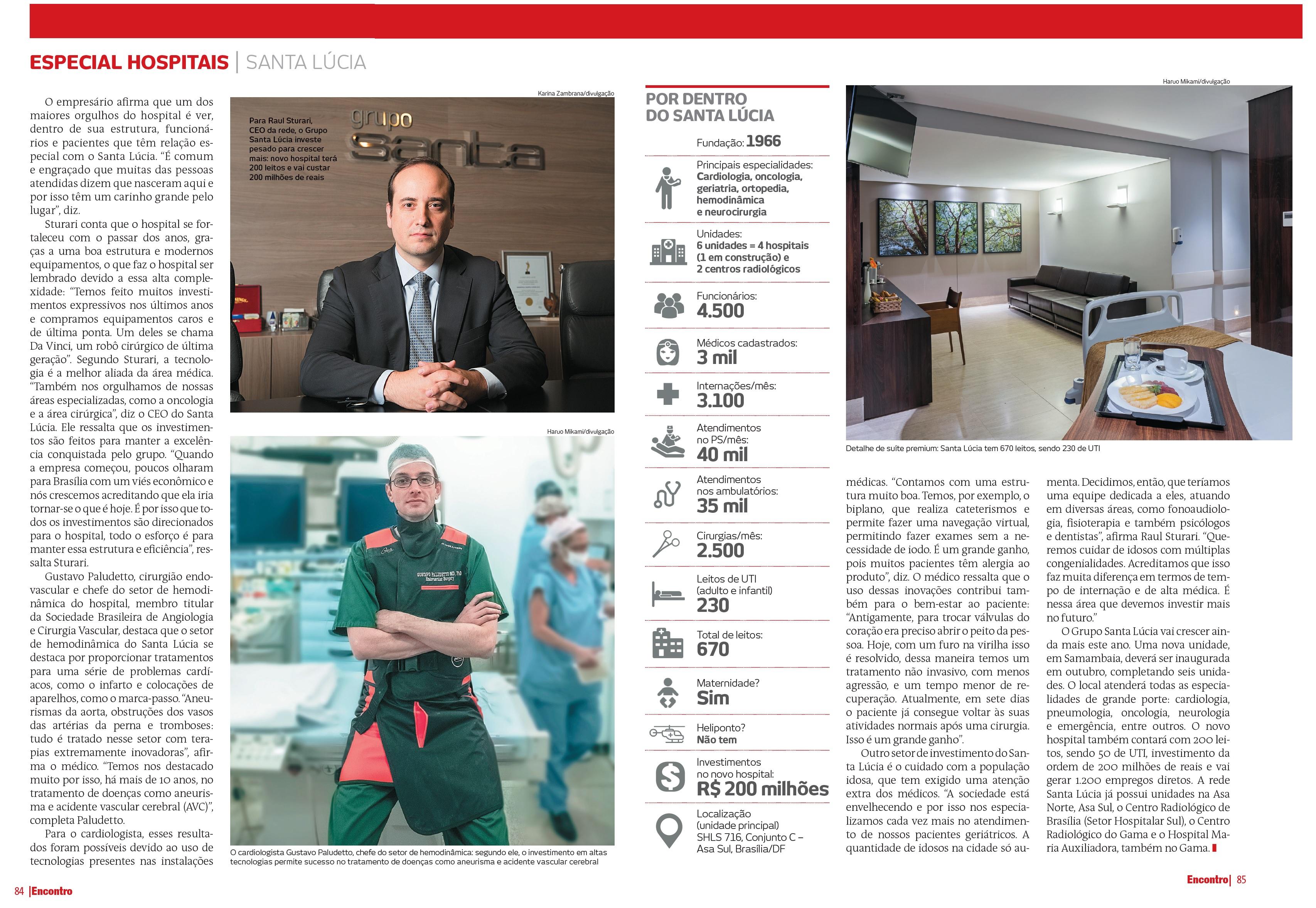 Revista Encontro Brasília - Grupo Santa Lúcia - Junho de 2019 [MATÉRIA]