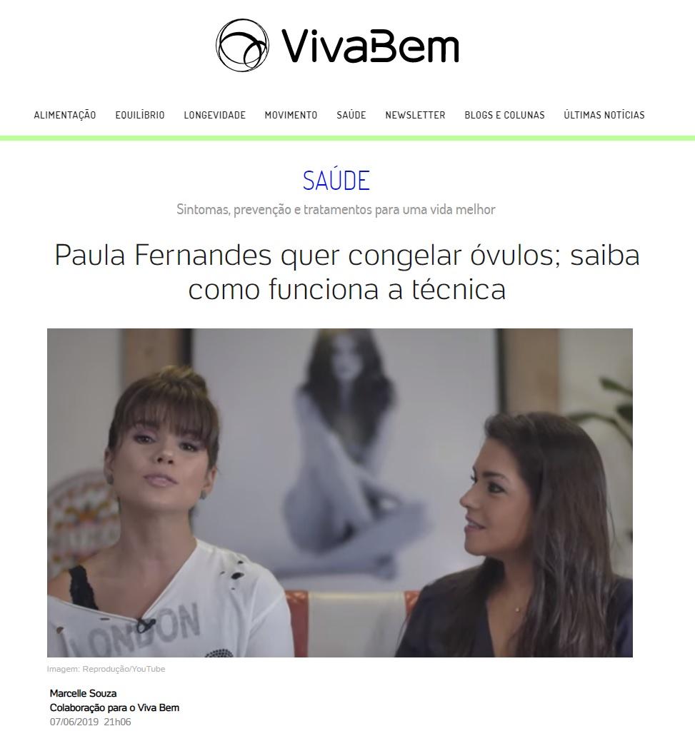UOL Notícias - Dra. Beatriz Mattos - FertilCare - 10-06-2019