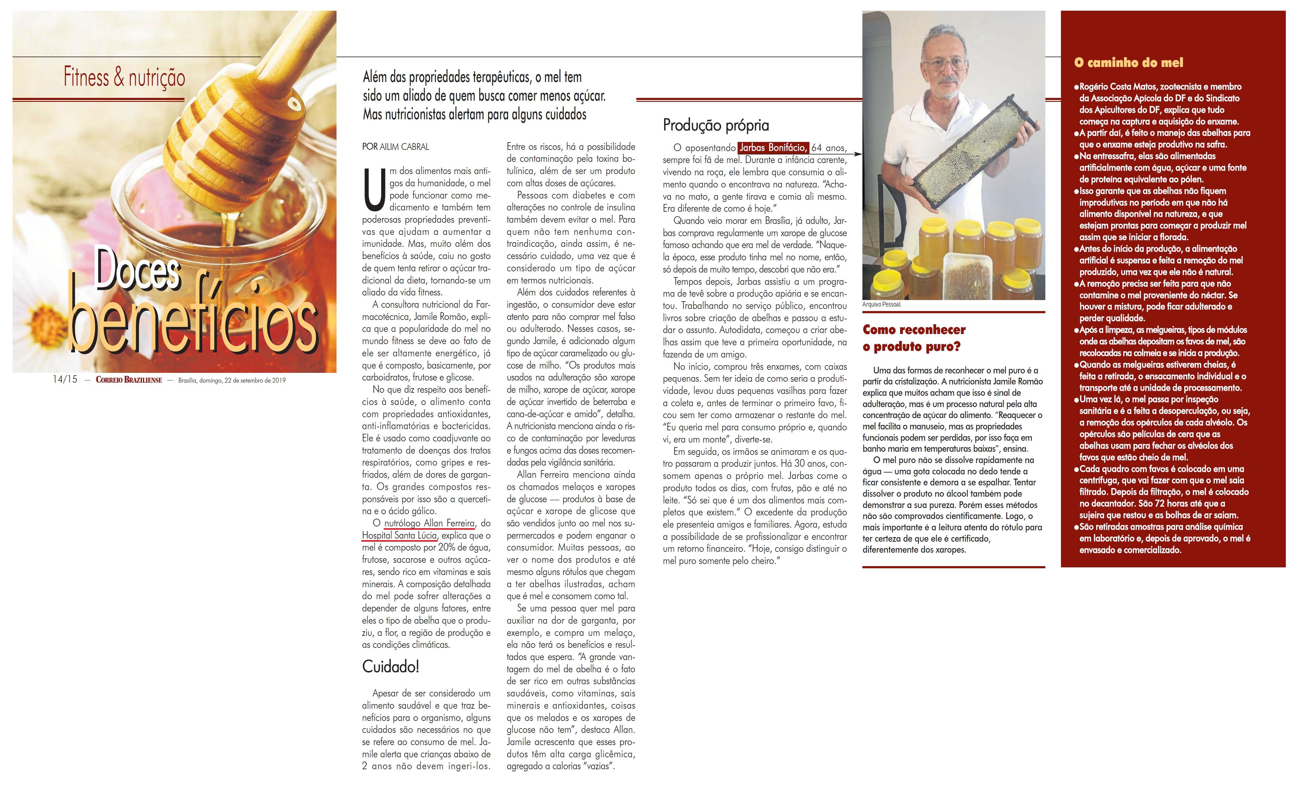 Revista do Correio - Dr. Allan Ferreira HSLS - 22-09-2019