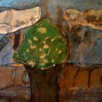 Quadro Árvore, Pigmento sobre tela, 2017, 92 x 73 cm