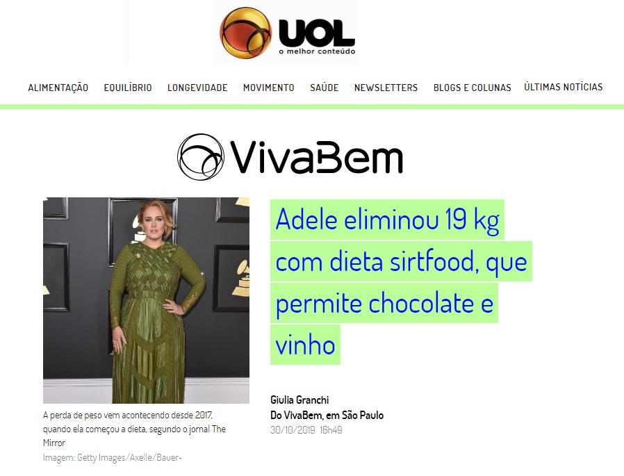 UOL Notícias - Cynara Oliveira HSLS - 31-10-2019