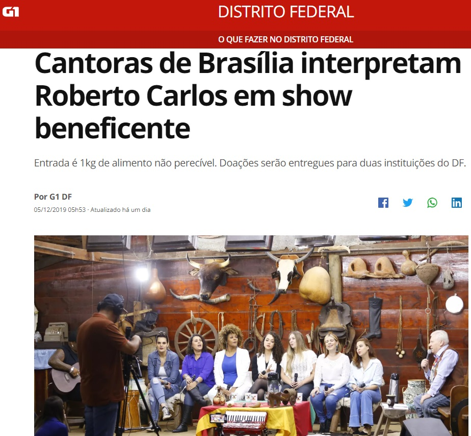Elas Cantam Roberto - G1