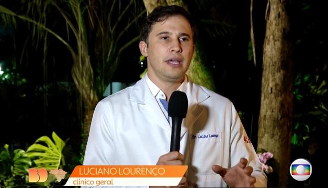 TV Globo Nacional - Dr. Luciano Lourenço HSLS - 20-03-2020